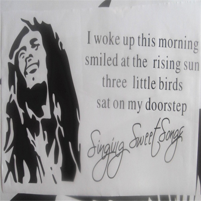 Bob Marley Rise Up This Mornin Wall Art Quote Vinyl Decal Sticker Decoration