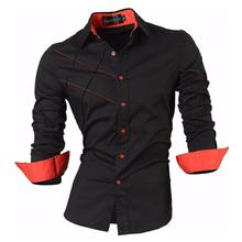 Sportrendy Men's Shirt Dress Casual Long Sleeve Slim Fit Fashion Dragon Stylish JZS044 Black цена 2017