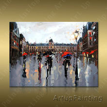Paris Street Art Painting Home Decor Decoration Oil painting Wall Pictures for living room Decor	paint art paint3