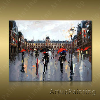 Paris Street Art Painting Home Decor Home Decoration Oil painting Wall Pictures for living room Home Decor paint Wall art paint3