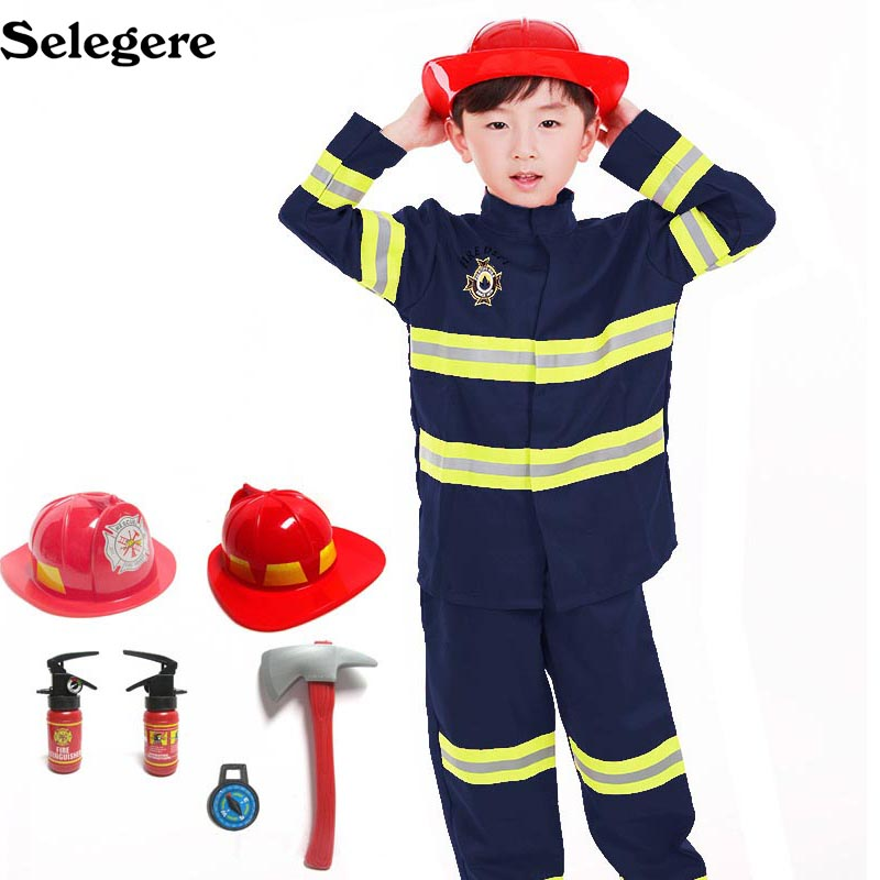 Primary and secondary school students cosplay costumes role playing professional worker Fireman Doctor Nurse dress 1 pc