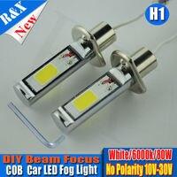 2pcs Lot Auto H3 LED Bulbs 80W COB LED Driving Fog Lights High Beam New Car