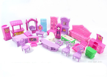 1Set 22Pcs lol dolls furniture TV chair table Bathtub sofa Bed toys for Kids lol accessories size suit for LOL dolls toys