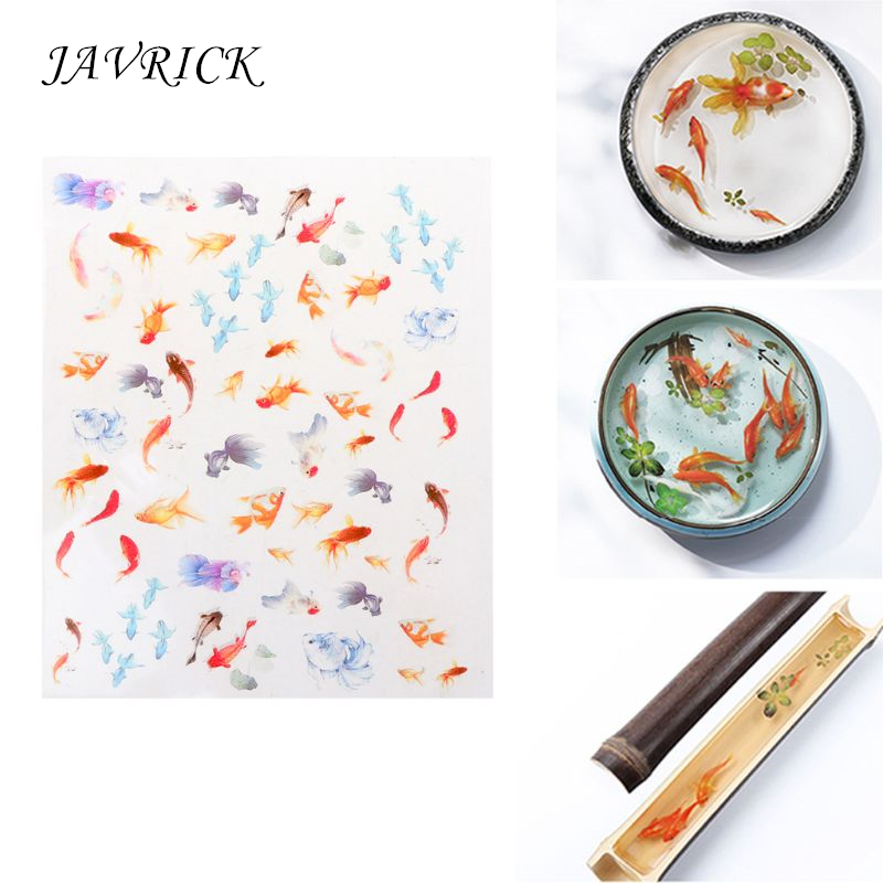 3D Goldfish Clear Film Resin DIY Stickers Water Like Painting Jewelry Making