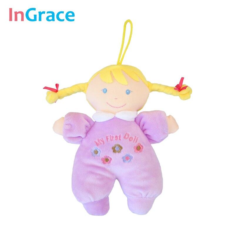 Ingrace fashion baby born doll 3 color soft Rattle toy stuff and baby - Anak patung dan aksesori - Foto 3