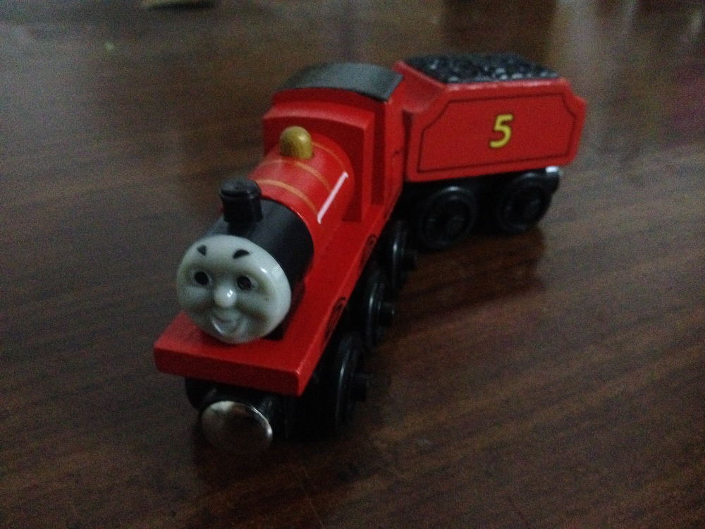James James s Tender 2pcs Thomas and Friends Wooden Trains Model Magnetic Train font b Toys