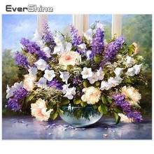 EverShine Diamond Embroidery Rhinestones Flower Picture Mosaic Full Square Painting Cross Stitch Home Decoration