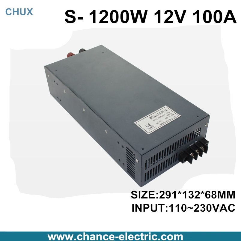 switching power supply 12V 100A 1200W 110~220VAC  single output input  for cnc cctv led light(S-1200W-12V) switching power supply 15v 66a 1000w 110 220vac single output input for cnc cctv led light s 1000w 15v