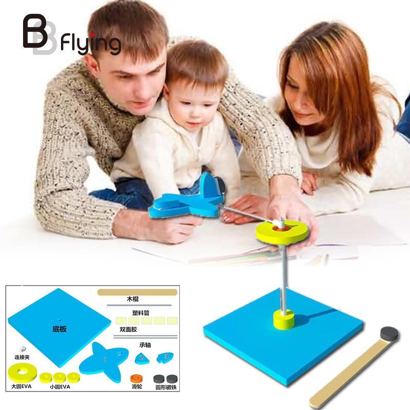 DIY поворотный магнит модель планера разведки летящего самолета комплект малыш/детская игрушка