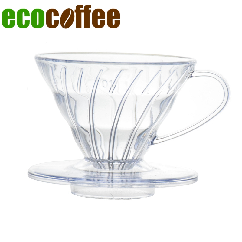 Hot Sell Coffee Dripper V60 Heat-resistant resin 2/4cups for barista Coffee Brewing Cup