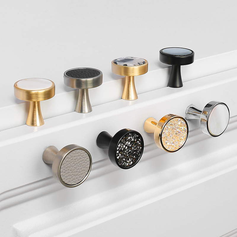 European Door Knobs And Handles For Kitchen Cabinet Zinc Alloy Furniture Handles Marble Vein Gold Drawer Pulls Wall Hanging Hook