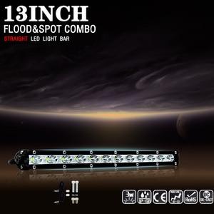 Image 2 - 13 inch 6000Lm 36 w רכב Led אור Barra בר עבודת ערפל אורות Offroad אופנוע זרקור לסירות ג יפ משאית רחוב מנורת SUV טרקטורונים