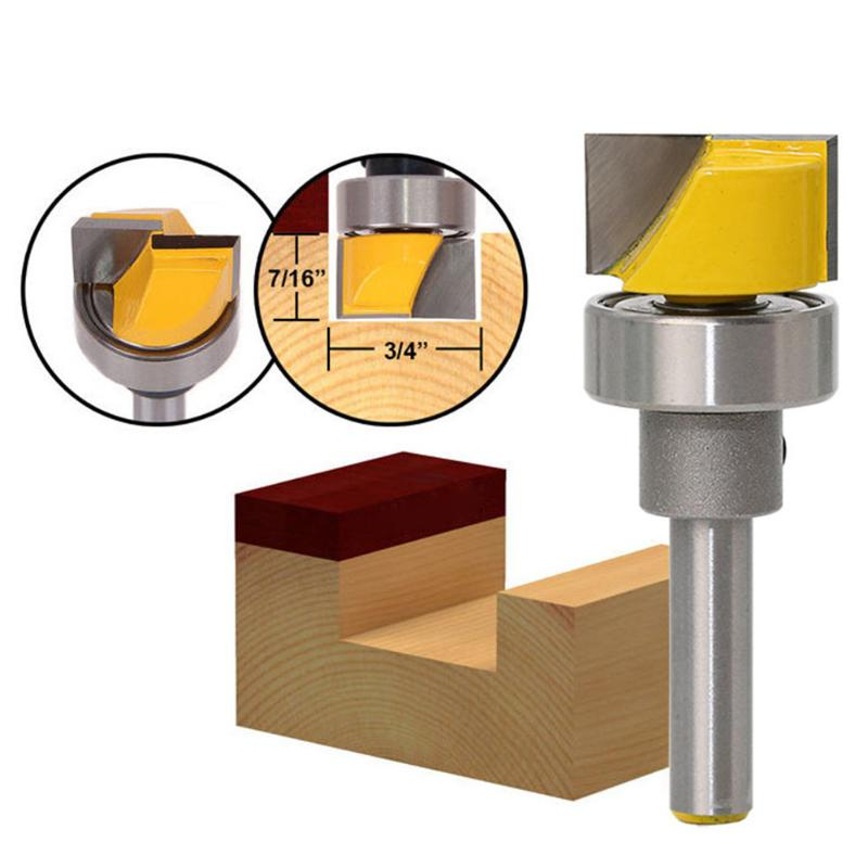 1/4 Shank Door Groove Profile Carving Router Bit Wood Panel Cutter Tool Carving Knife Carbide Woodworking Milling Cutter 16pcs 14 25mm carbide milling cutter router bit buddha ball woodworking tools wooden beads ball blade drills bit molding tool