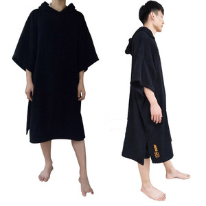 Image 4 - 2020 News surf poncho Wetsuit Changing Robe Poncho towel With Hood for Swim, Beach sports,100% cotton oversize adult