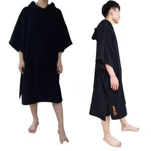 Image 4 - Combinaison poncho de surf à changement de Robe, serviette avec capuche, pour nager et sports de plage, 2020 coton, grande taille, pour adultes, nouvelle collection 100%