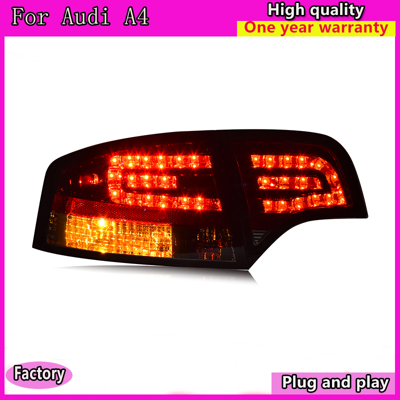 Car Styling tail lights for Audi A4 B7 taillights LED Tail Lamp rear trunk lamp cover drl+signal+brake+reverse
