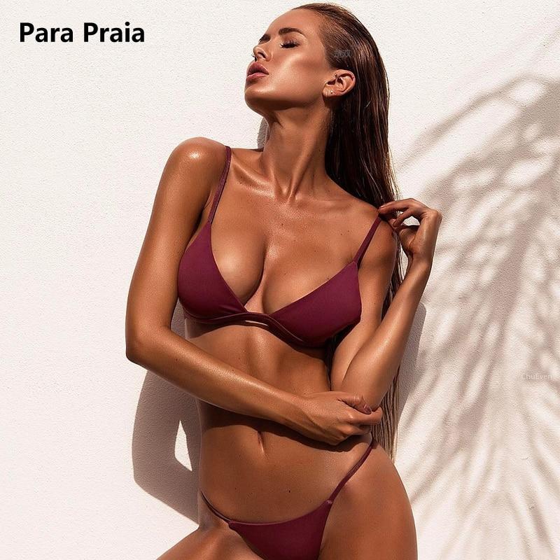 HTB1JHQvgyQnBKNjSZFmq6AApVXa9 9 Colors Solid Bikini Set 2019 Sexy Push Up Swimwear Women Brazilian Swimsuit Low Waist Biquini Halter Two Pieces Bathing Suit