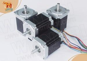 Image 2 - Ucuz CNC! Wantai 4 eksenli Nema 34 step Motor WT86STH118 6004A 1232oz in + sürücü DQ860MA 80V 7.8A 256 mikro CNC Mill kesim taşlama