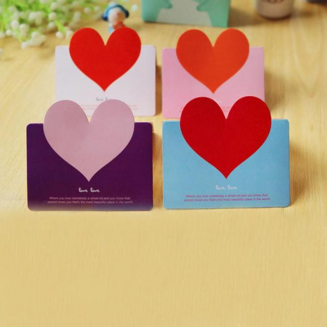 2018 new thanksgiving day greeting card blessing cards 10pcs 3d love new year greeting cards festival