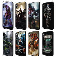 Lavaza Real Steel Soft Silicone Case Cover voor Apple iPhone 6 6 S 7 8 Plus 5 5 S SE X XS MAX XR TPU Gevallen(China)