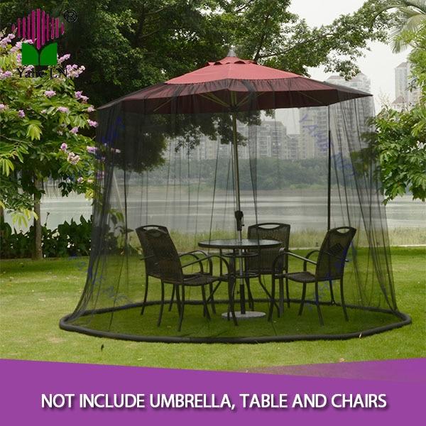Patio Umbrella Netting: 9 Foot Black Patio Umbrella Mosquito Netting-in Mosquito