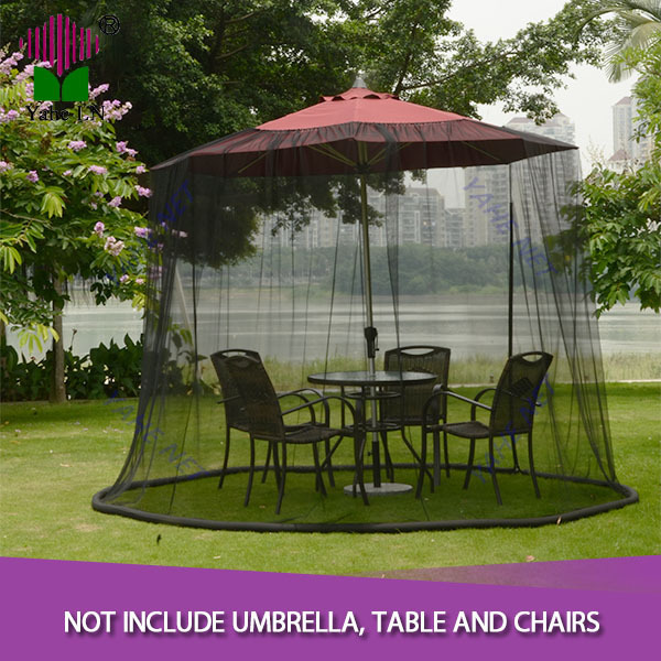9 Foot Black Patio Umbrella Mosquito Netting