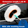 Hot Microfiber Auto Window Cleaner Long Handle Car Wash Brush Dust Car Care Windshield Shine Brush Handy Washable Free Shipping
