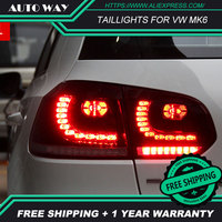 Car Styling tail lights case for VW Golf 6 Golf6 MK6 R20 Golf 6 taillight LED Tail Lamp DRL fog lights rear trunk lamp cover