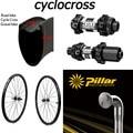 Комплект колес для велокросса из углеродного волокна  гравий  спицы со стойкой и DT Swiss 350  6-болт или Центральный замок