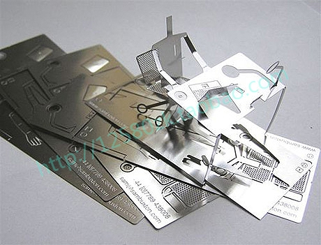 3D Cutout Metal Personalized Quality Business Card