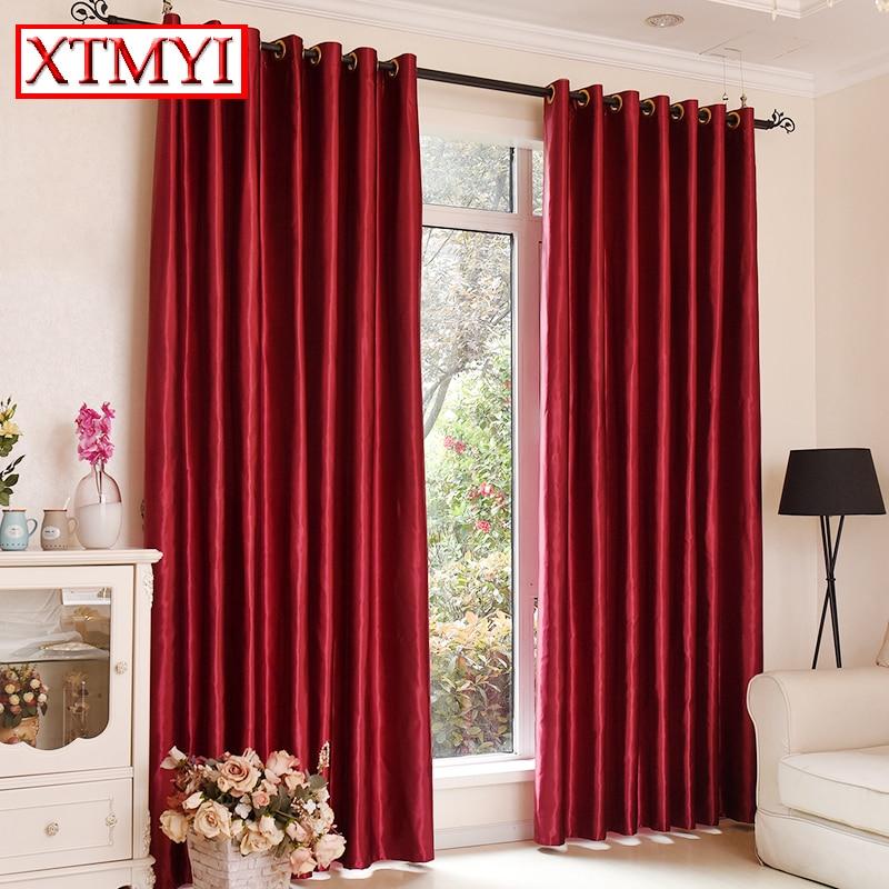 Blackout rideaux pour la chambre coucher solide couleurs rideaux pour le salon fen tre brun - Rideaux pour chambre ...