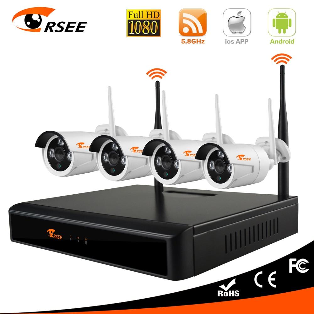 4CH 1080P NVR Wi-Fi CCTV Security IP Camera System Surveillance IR Night Vision
