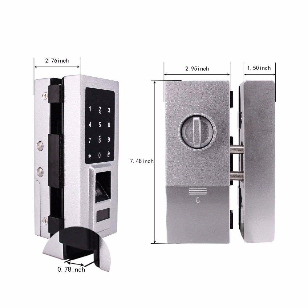 Стеклянная дверь интеллектуальный электронный дверной замок сенсорный экран отпечатков пальцев/Пароль Код/RFID карта бесключевая защелка У... - 2