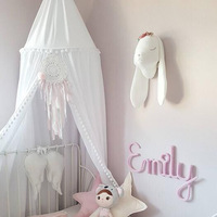 2018 ins canopy baby bed curtain kids Mosquito Net children Cotton Crib Netting baby bedroom decoration A81