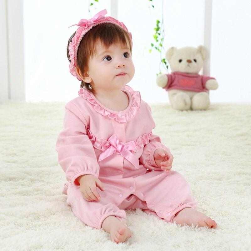Rroba Përkulje / Lule Romper Veshmbathje për Veshjet e Vajzave të Porsalindura Stili Princeshë dhe Lidhje Kryqëzuese 2 PC Romakët e Foshnjës Cute Foshnja