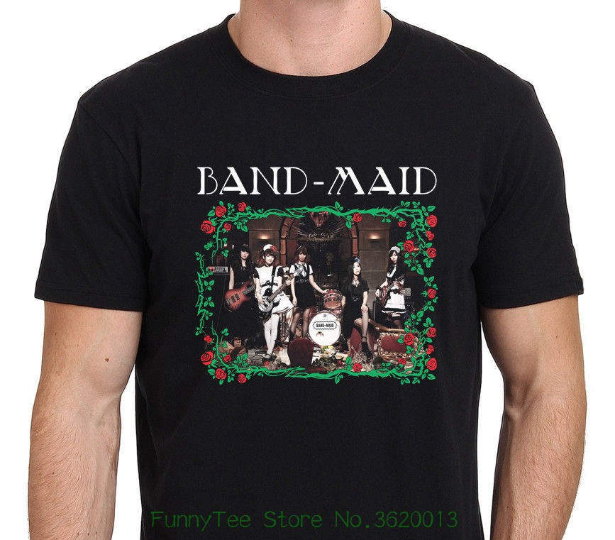 Band - maid Japan Hard Rock Band Miku Koba T-shirt Men' ; S Black Size : S - to - xxl image