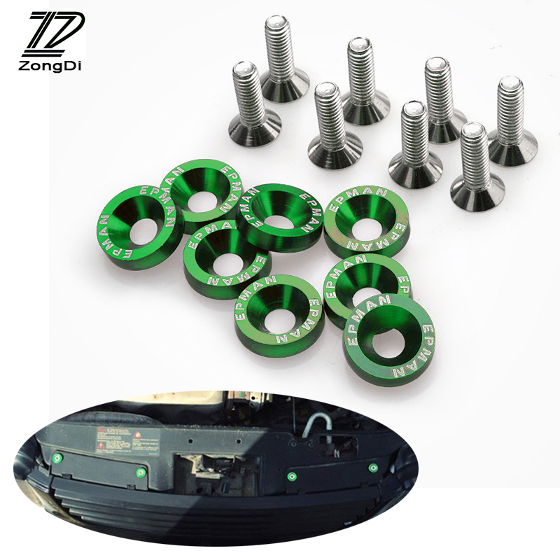 ZD Car Styling Modified Screw Gaskets 6 Colors For Citroen C5 C4 C3 Mini Cooper Opel Astra H G J Vectra C Saab Accessories 10pcs