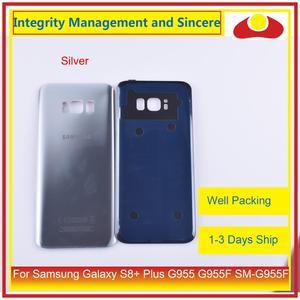 Image 2 - Original pour Samsung Galaxy S8 + Plus G955 G955F boîtier de SM G955 batterie porte arrière couvercle en verre coque châssis