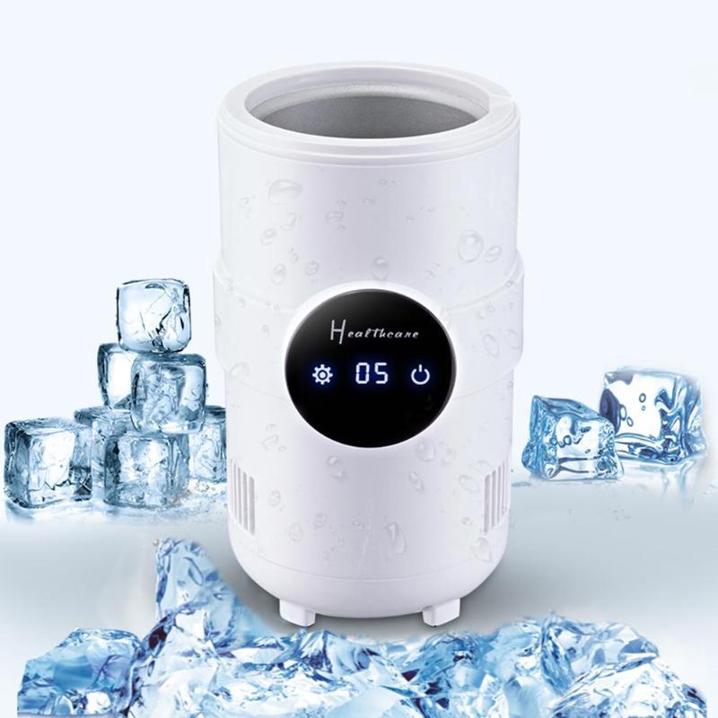 ALLOET 500 мл мини электрический холодильник, светодиодный дисплей, чашки мгновенного охлаждения, настольный холодильник, бутылка для напитков,