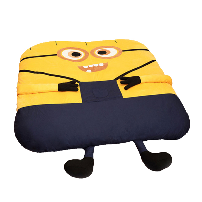 1.8x2.0m Funny Despicable Me Minions Sleeping Bag Sofa Bed Twin Bed Double Bed Mattress for Adult Oversized Beanbag Tatami Sofa fancytrader soft huge funny pikachu beanbag with sleeping bag bed carpet tatami mattress sofa ft90267