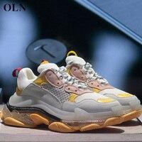 OLN женские брендовые уличные спортивные Для женщин кроссовки удобно Для женщин кроссовки Открытый Бег зимняя спортивная обувь для Для женщ