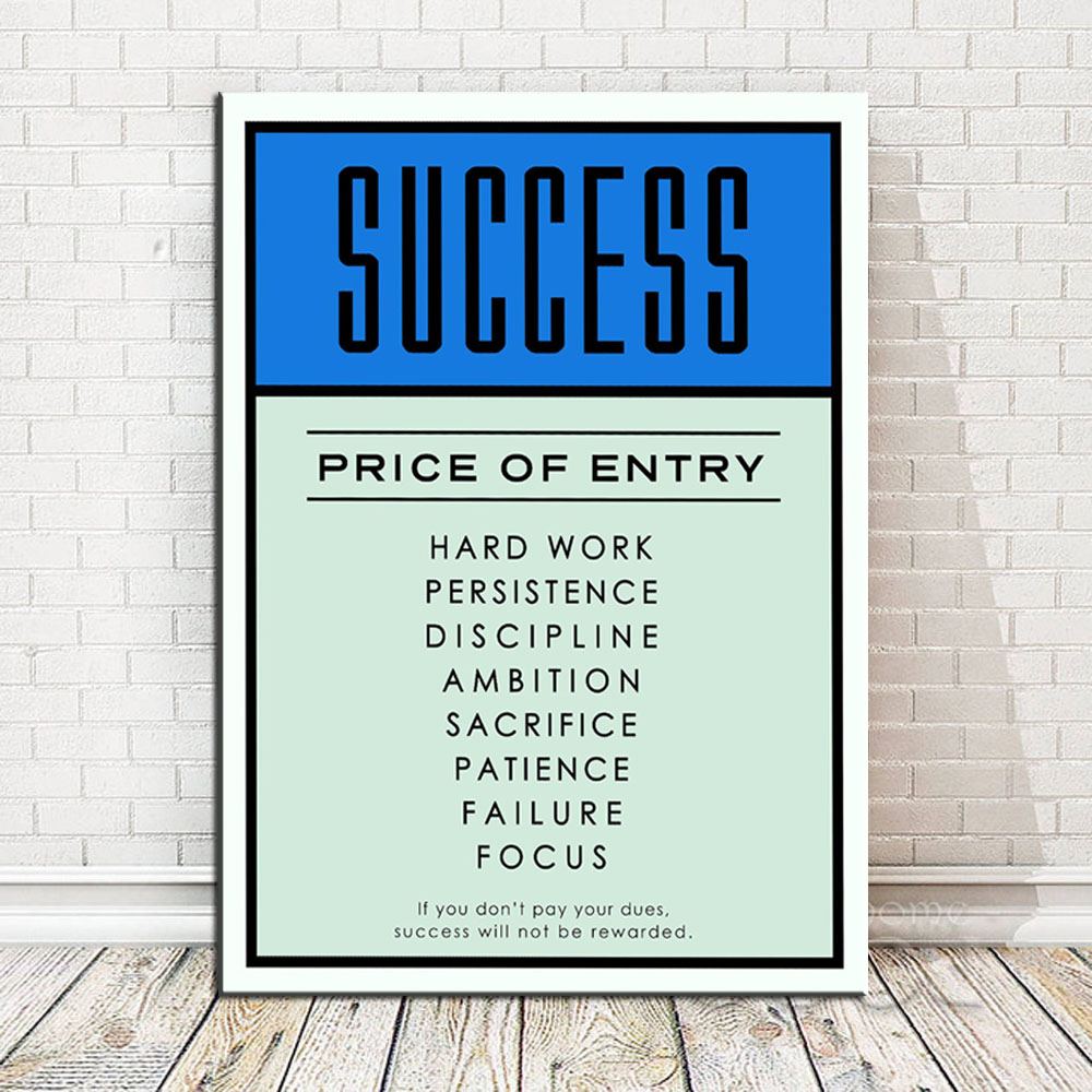 Life Poster Quote Art Motivational Success Print Picture THEY SLEEP I HUSTLE
