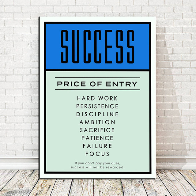 Nordic Inspirational Typography Success Quotes Poster Print Wall Art Living Room Canvas Painting Home Decor No Frame