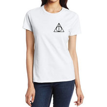 T-Shirt Women Cartoon Harry Potter Harajuku 2016 Fashion Product Clothes Funny Tops & Tees Punk Rock Streetwear T Shirt Femme