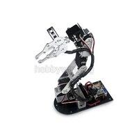 2017 ניו 6 DOF רובוט מתכת סגסוגת בערכת טופר מהדק זרוע מכאנית עם Servos דיגיטלית אופציונלי עבור Arduino רובוטית חינוך
