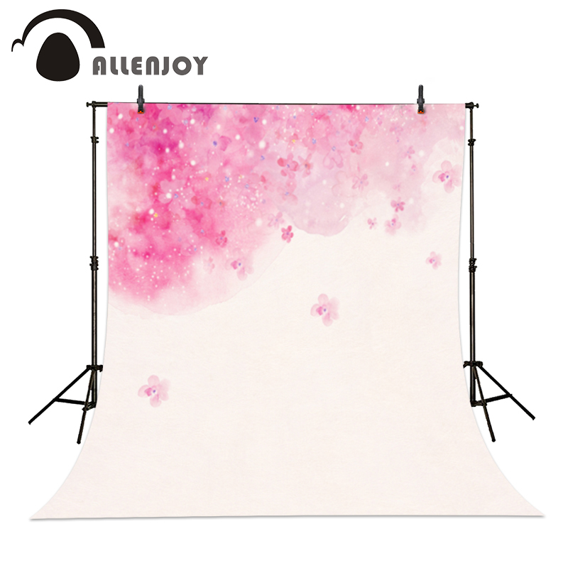 Allenjoy Christmas photo background Pink flower white lovely baby shower professional backdrop photocall new christmas photo background rose daisy flower professional new born xmas photography photocall background pictures