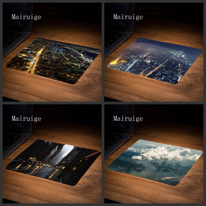 Mairuige Hight Quality City Photo Mousepad Size 22X18/25X20/29X25CM Best Anti Slip Durable Desktop Mous Pad Computer Gaming Pad ...