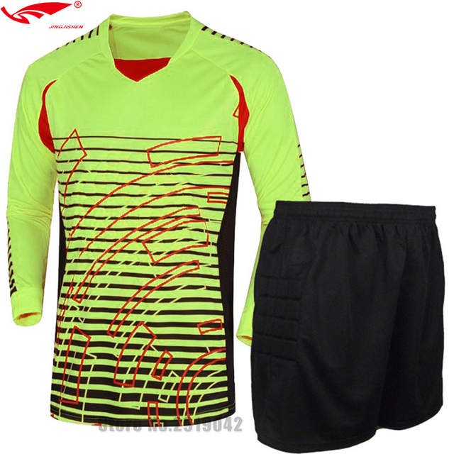 cfe2e893d47 survetement football Shirts Goalkeeper clothing Men s Goalkeeper Soccer  Jerseys Set Football Suit Adult Goalie Keeper Long