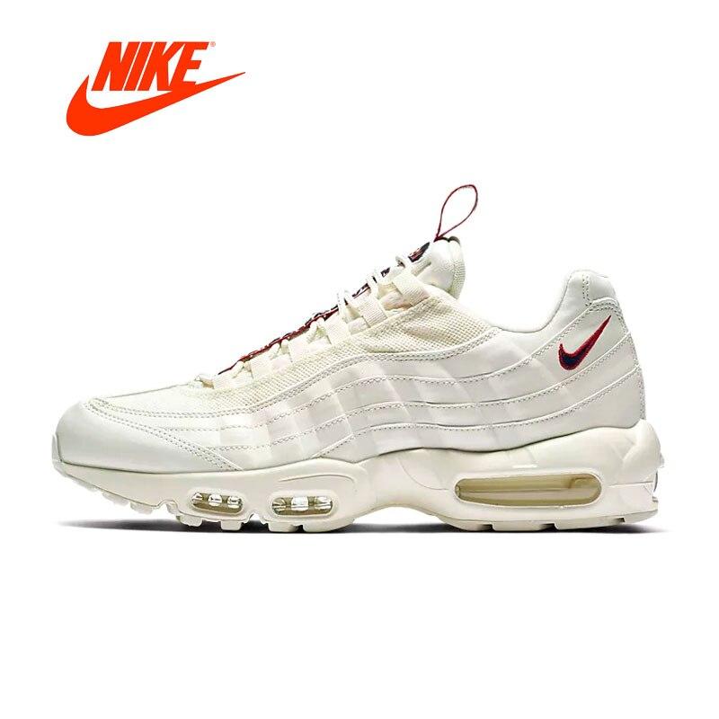 Original Nouvelle Arrivée Authentique Nike Air Max 95 Hommes Chaussures de Course de Sport En Plein Air de Marche Jogging Sneakers Confortable AJ1844-101