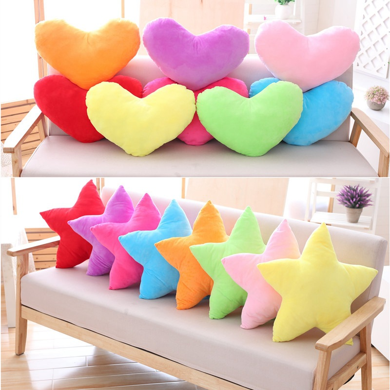 LEMOR Newest Star Pillows PP Cotton Back Cushion Candy Color Cute Love Pillow Creative Plush Toy Wedding Pillow Birthday Gifts